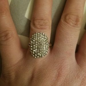 Jewelry - Size 7 Sterling silver & White Sapphire ring